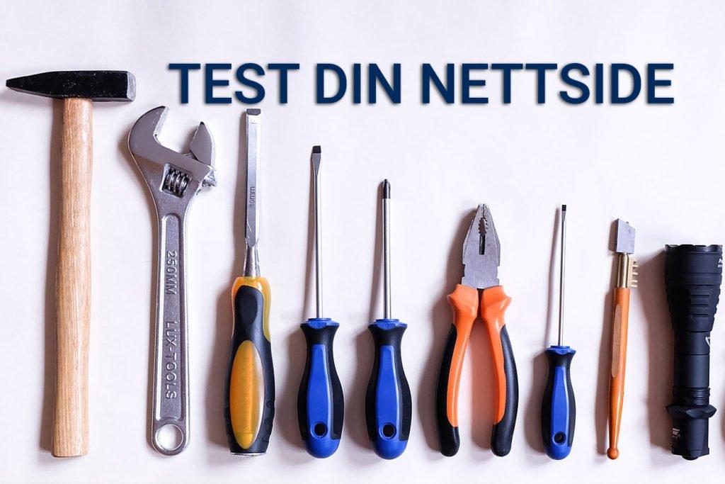 Bilder av verktøy - illustrasjon for testing av nettside