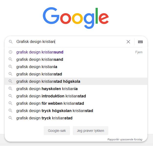 Lokalt søk - illustrasjon fra Google