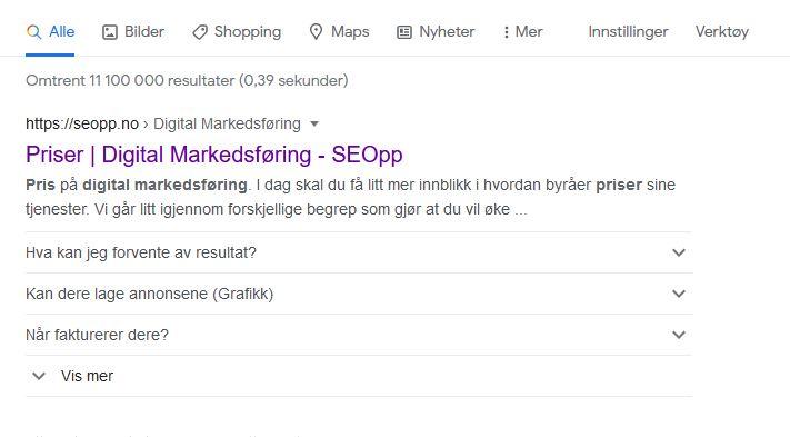 Dette fant du når du søkte etter digital markedsføring pris.