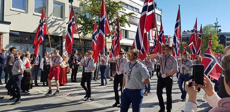 Bilde fra 17.mai i Norge