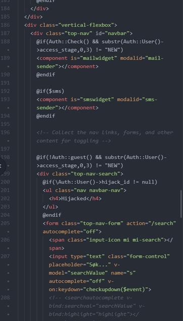 Profesjonell hjemmeside kildekode eksempel